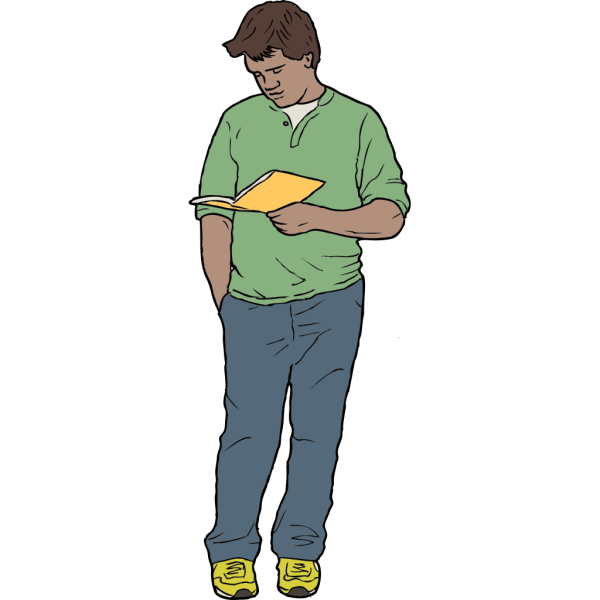 Man Reading With Glasses PNG Clip art
