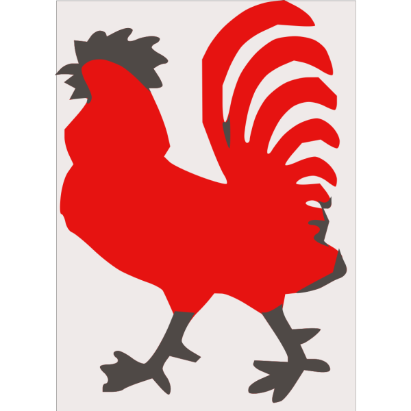 Red Rooster PNG Clip art