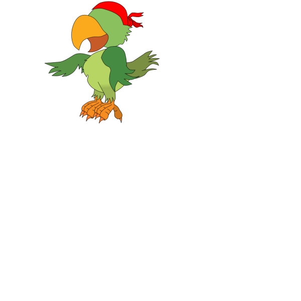 Pirate Parrot PNG Clip art