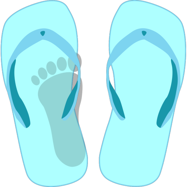 Thong Light Blue With Footprint PNG images