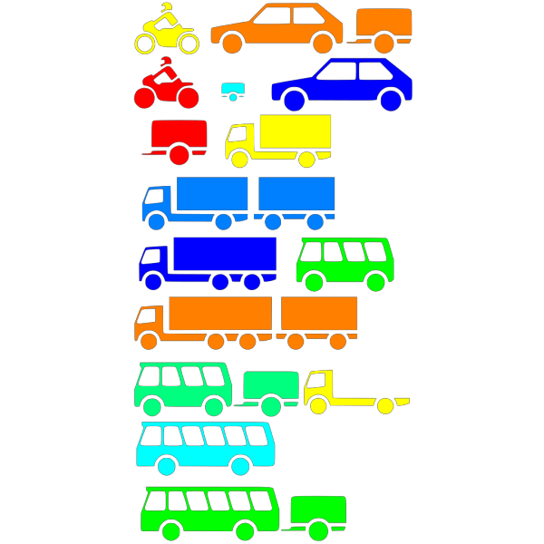 Transportation Silhouettes Boy Colors PNG Clip art
