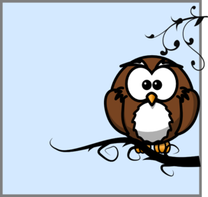 Owl On Branch 79 PNG Clip art