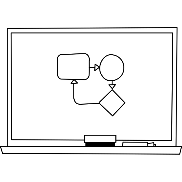 White Board Silhouette PNG icon