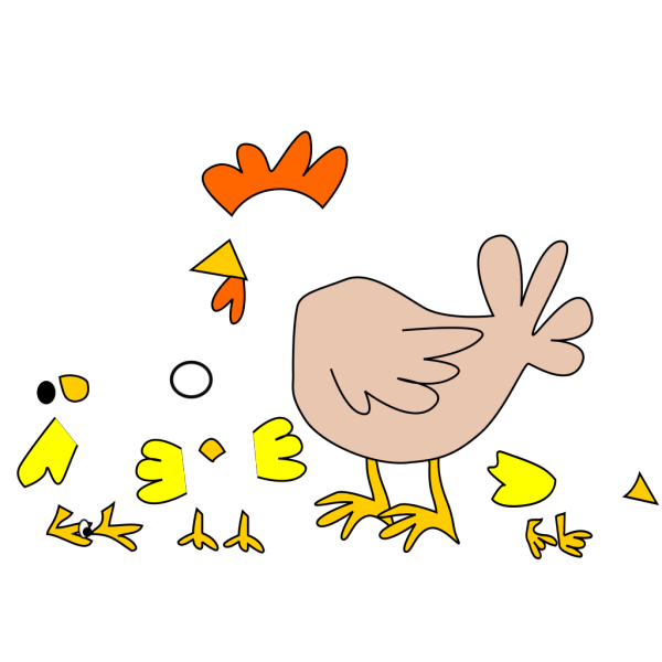 Chicken And Chicks PNG Clip art