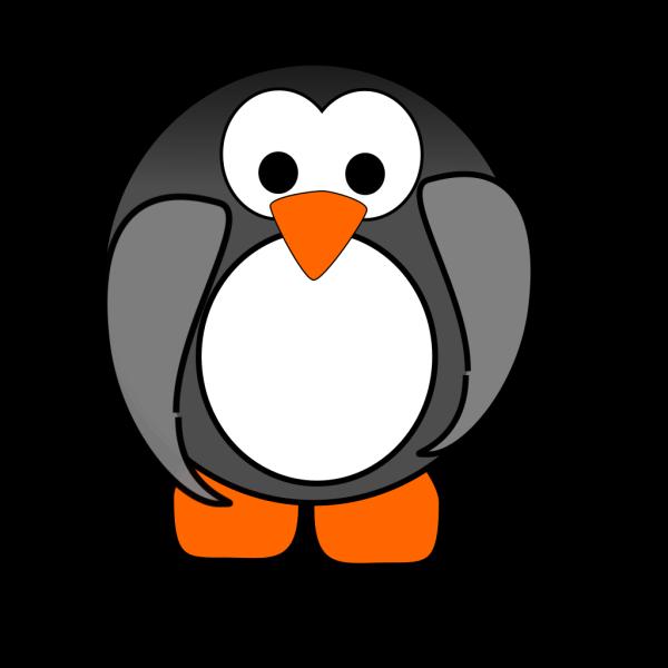 Gray Penguin PNG Clip art