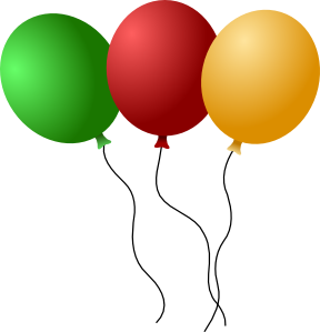 Raven With Balloons PNG images