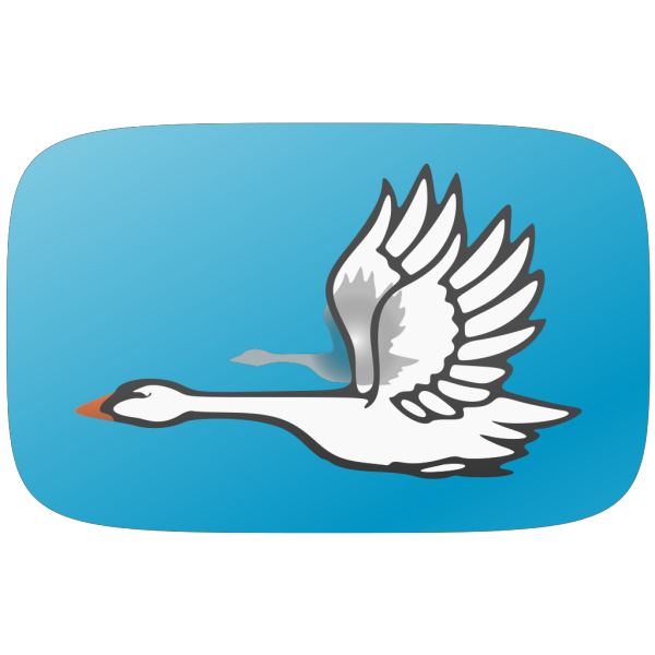 Flying Swan PNG Clip art