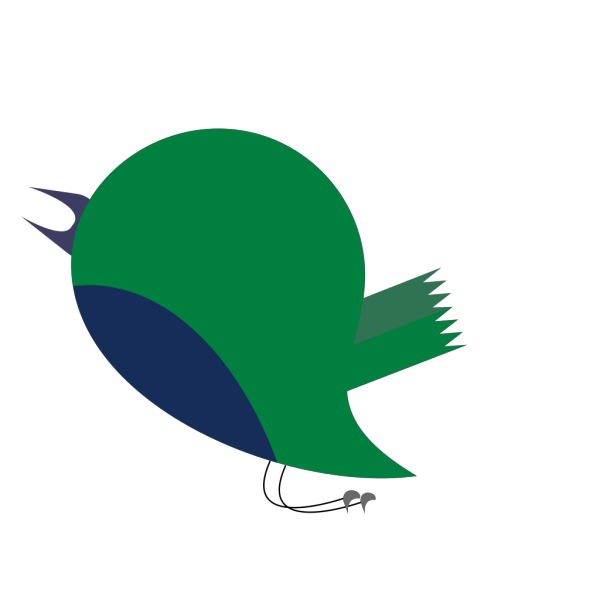Green Blue Bird PNG Clip art