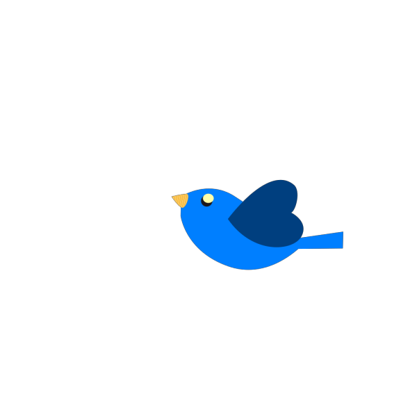 Blueheartbird2 PNG Clip art