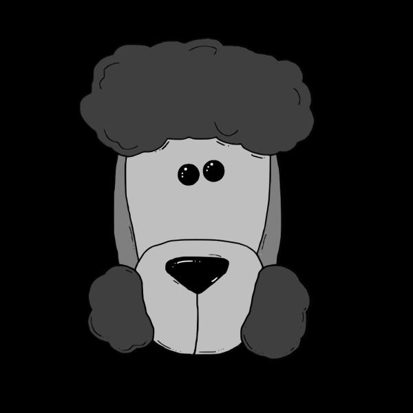 Gray Dog Face PNG Clip art