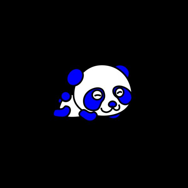 Blue Panda PNG Clip art