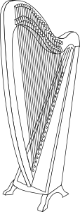 Classical Harp PNG images