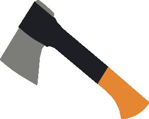 Grey Brown Axe PNG Clip art