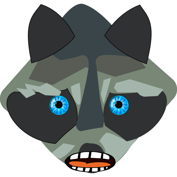 Raccon Open Mouth PNG Clip art