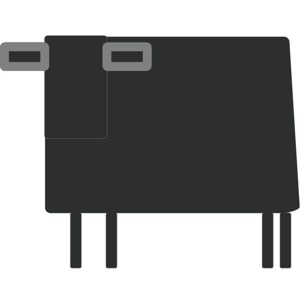 Square Cow PNG Clip art