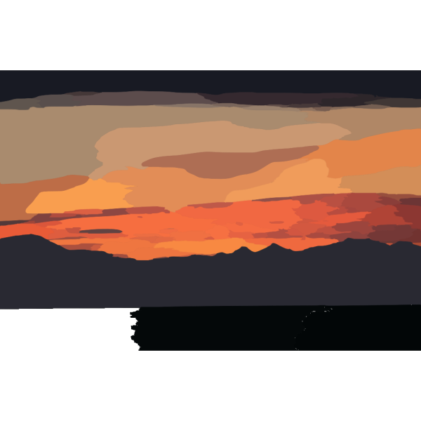 Sunset Gradient PNG Clip art