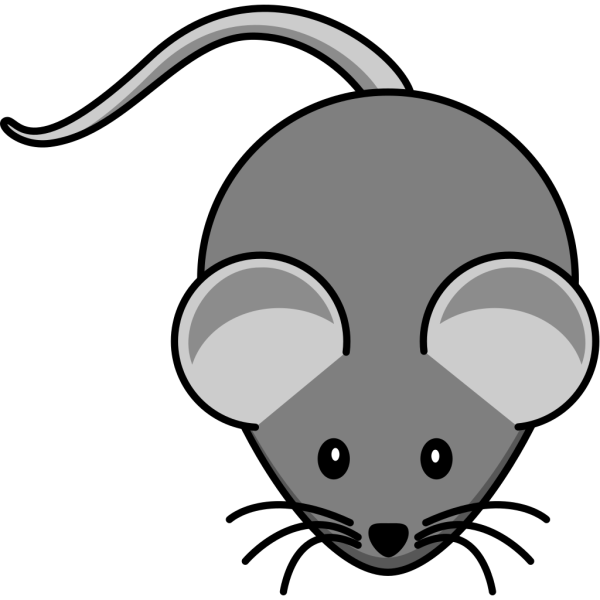 Simple Mouse Dark Grey PNG Clip art