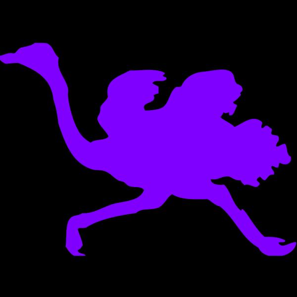 Purple Ostrich PNG Clip art