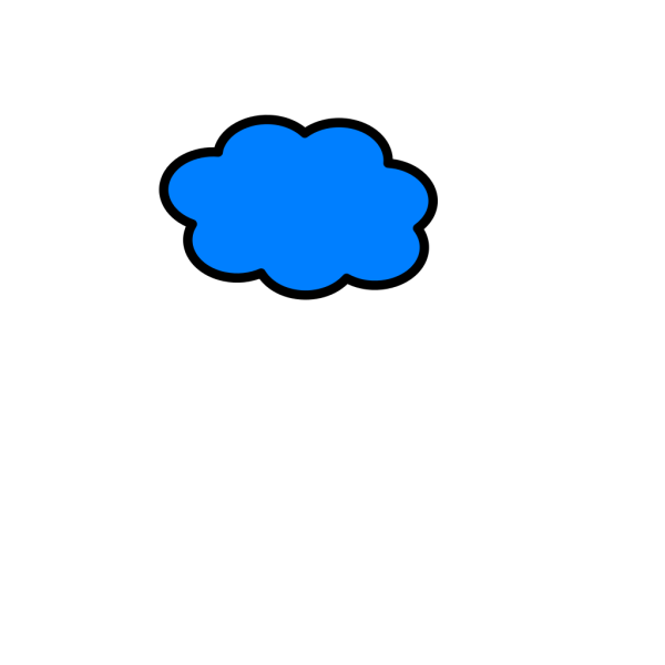 Cloud Light Blue PNG Clip art
