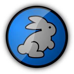 Rabbit In Blue PNG Clip art