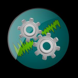 Gear Logo W Jagged Lines PNG Clip art