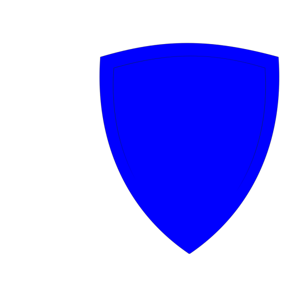 Shield, Blue PNG icon