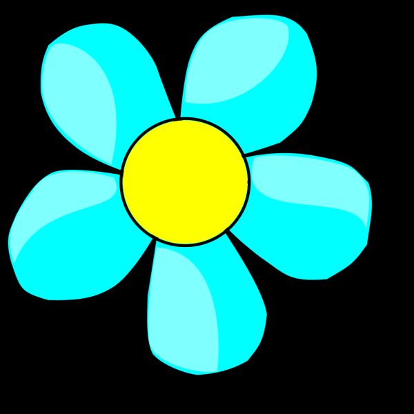 Aqua Flower PNG Clip art