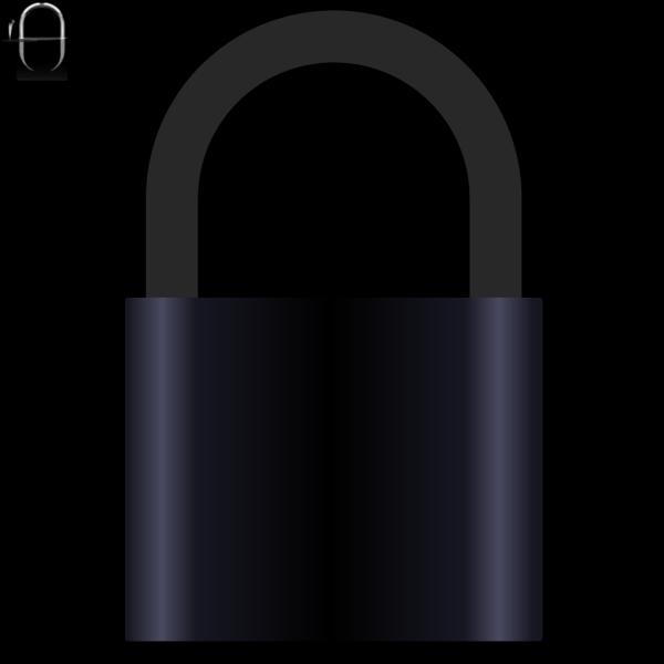 Padlock Black PNG Clip art