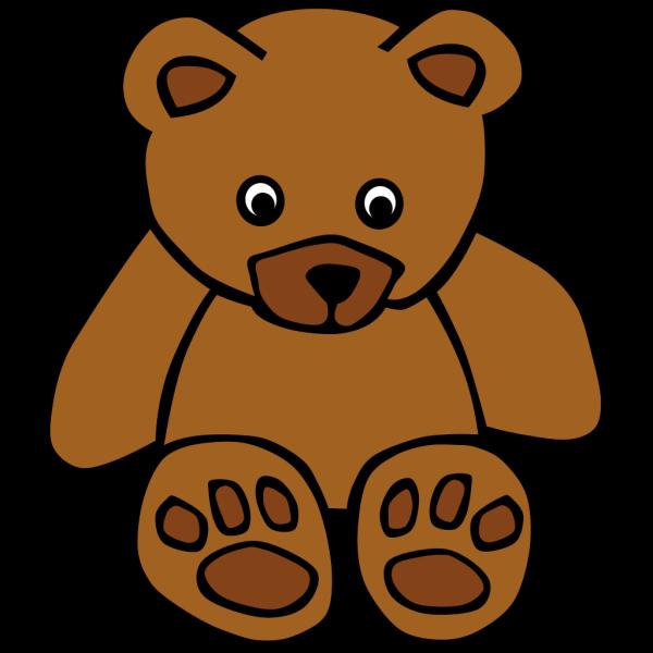 Simple Teddy Bear PNG Clip art