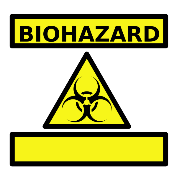 Zombie Parts Warning Label PNG images