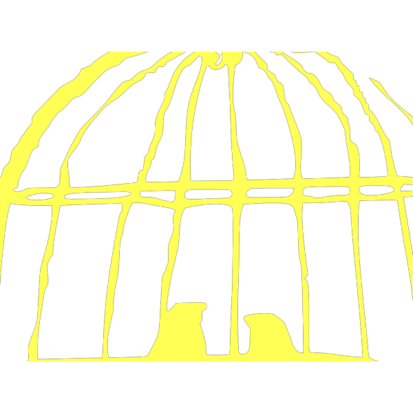 Yellow Love Birds In Birdcage Clip art