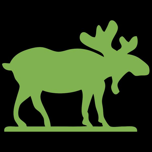 Green Moose PNG Clip art