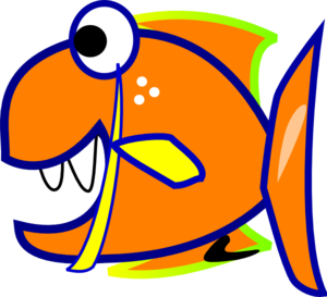 Edited Orange Fish PNG image