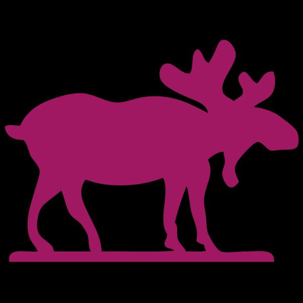 Pink Moose2 PNG Clip art