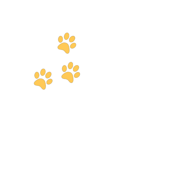 Gold Paw PNG Clip art