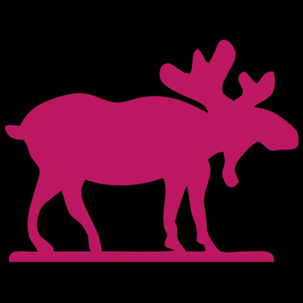 Pink Moose3 PNG Clip art