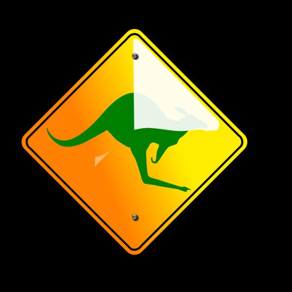 Kangaroo Green Icon PNG Clip art