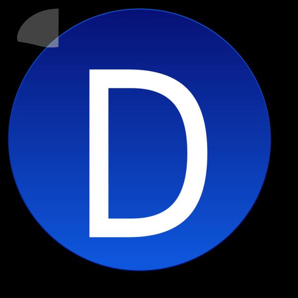 Blue D PNG Clip art