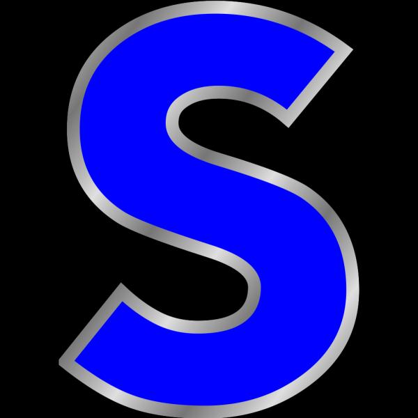 Blue S  PNG Clip art