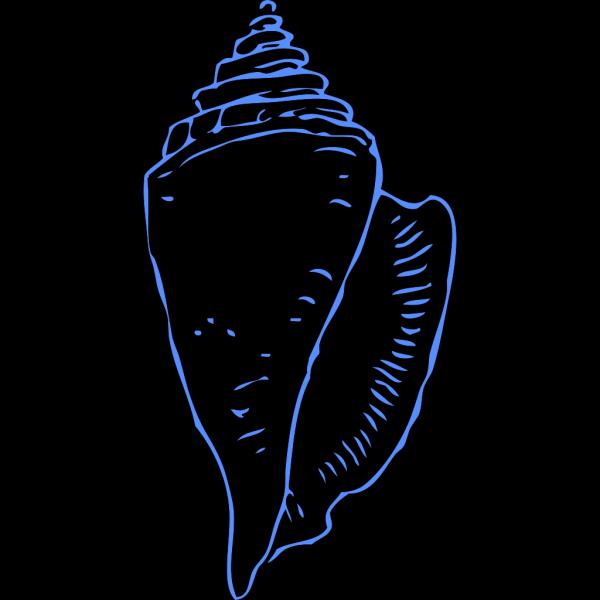 Seashell Blue PNG Clip art