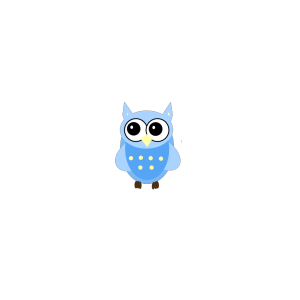 Blue Baby Owl PNG Clip art