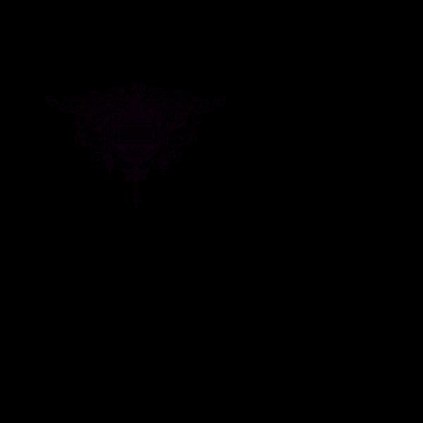 Blue Fern Scroll PNG Clip art