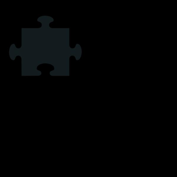 Jigsaw Piece Blue