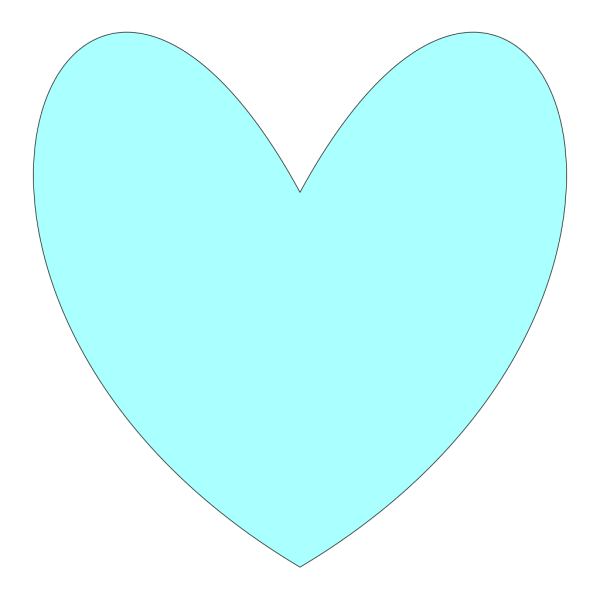 Light Blue Heart PNG icons