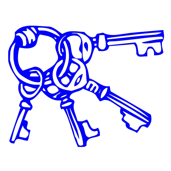 Blue Key Ring PNG icon