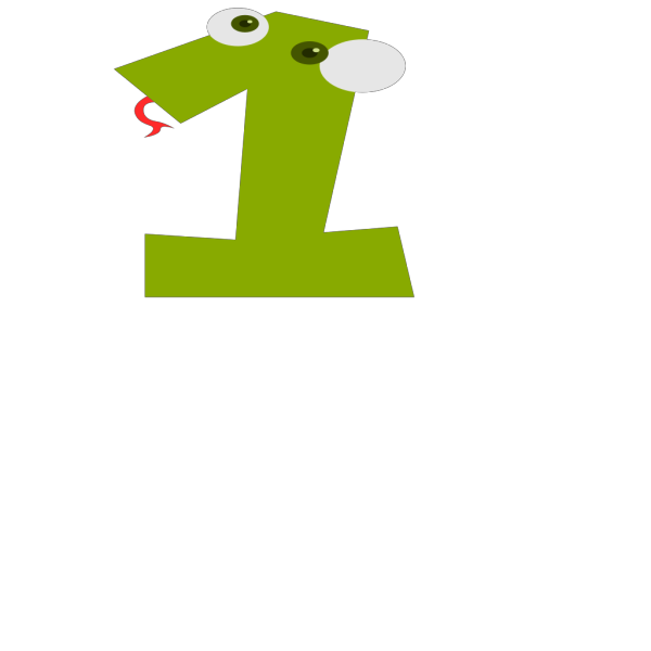 Animal Number 1 2 PNG Clip art