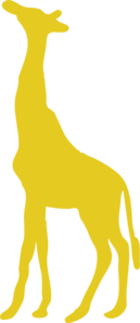 Yellow Giraffe With 12 Dots PNG Clip art