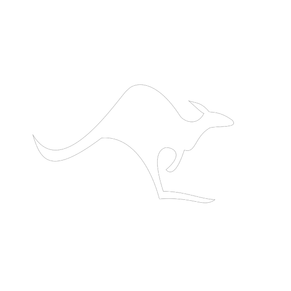 White Kangaroo PNG Clip art