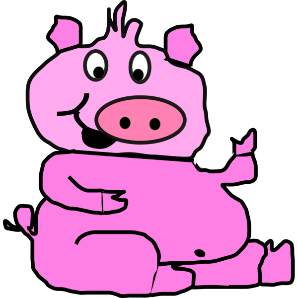 Laughing Pig 2 PNG images