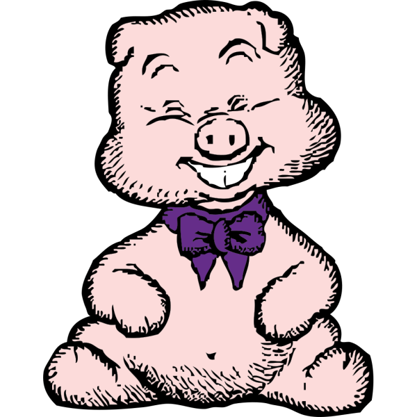 Laughing Pig 1 PNG images